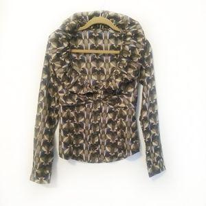 Moschino Ruffle Collar dress Printed Blouse Top